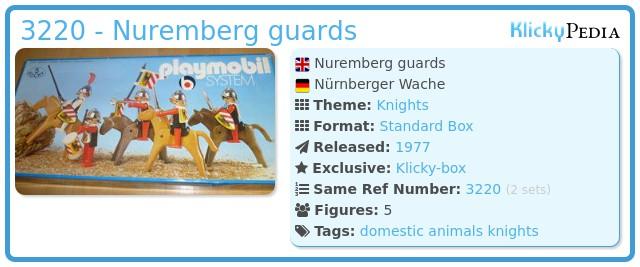 Playmobil 3220 - Nuremberg guards