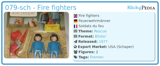 Playmobil 079-sch - Fire fighters