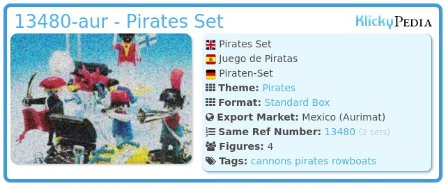 Playmobil 13480-aur - Pirates Set