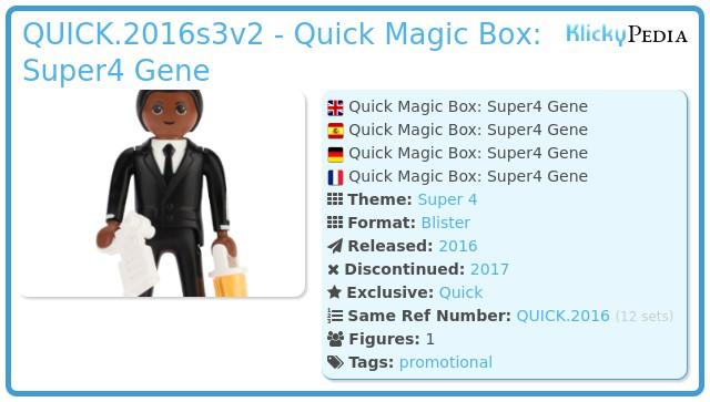 Playmobil QUICK.2016s3v2 - Quick Magic Box: Super4 Gene