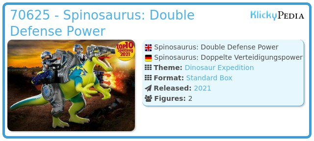 Playmobil 70625 - Dino Rise Spinosaurus: Double Defense Power