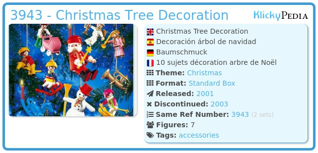 Playmobil 3943 - Christmas Tree Decoration