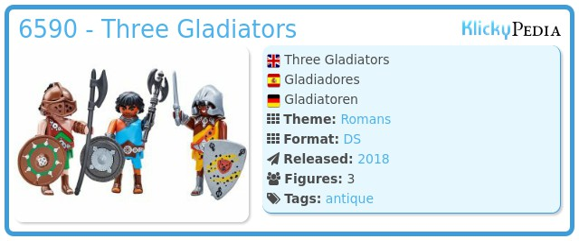Playmobil 6590 - Three Gladiators