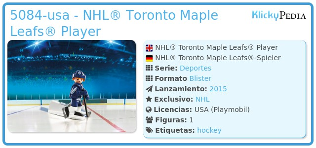 Playmobil 5084-usa - NHL® Toronto Maple Leafs® Player