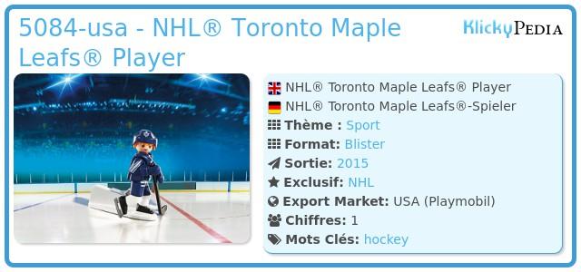 Playmobil 5084-usa - NHL® Toronto Maple Leafs® Player