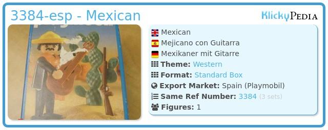 Playmobil 3384-esp - Mexican