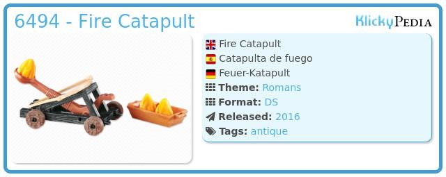 Playmobil 6494 - Fire Catapult