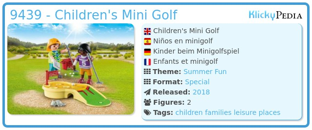 Playmobil 9439 - Children's Mini Golf