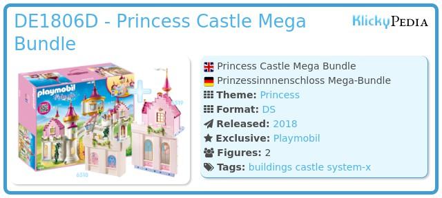 Playmobil DE1806D - Princess Castle Mega Bundle