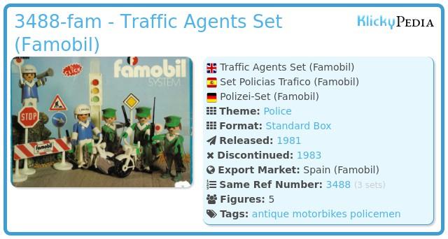 Playmobil 3488-fam - Policias Trafico