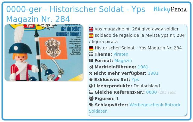 Playmobil 0000v1-ger - Historischer Soldat - Yps Magazin Nr. 284