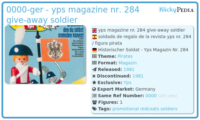 Playmobil 0000v1-ger - yps magazine nr. 284 give-away soldier