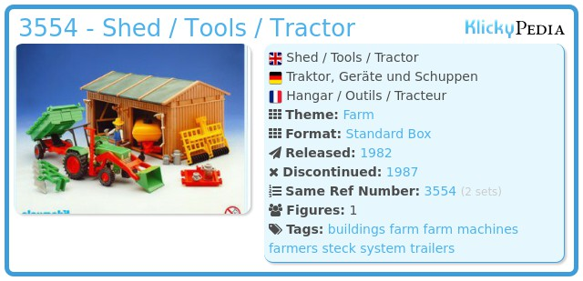 Playmobil 3554 - Shed / Tools / Tractor
