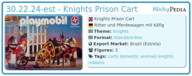 Playmobil 30.22.24-est - Knights Prison Cart