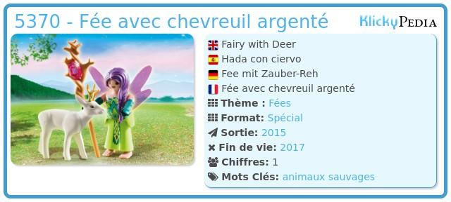 Playmobil 5370 - Fée avec chevreuil argenté