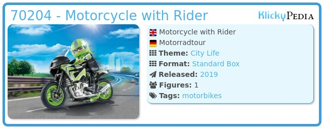 Playmobil 70204 - Motorradtour