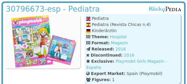 Playmobil 30796673-esp - Pediatra