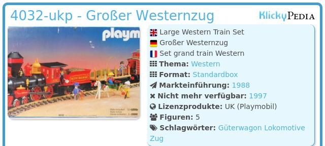 Playmobil 4032-ukp - Großer Westernzug