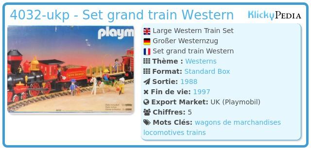 Playmobil 4032-ukp - Set grand train Western