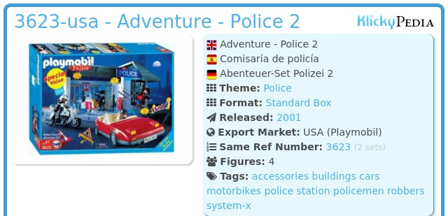 Playmobil 3623-usa - Adventure - Police 2