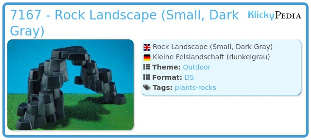 Playmobil 7167 - Rock Landscape (Small, Dark Gray)