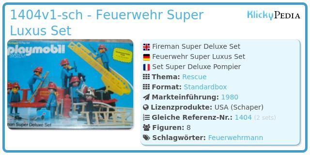 Playmobil 1404v1-sch - Feuerwehr Super Luxus Set
