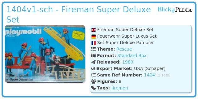 Playmobil 1404v1-sch - Fireman Super Deluxe Set