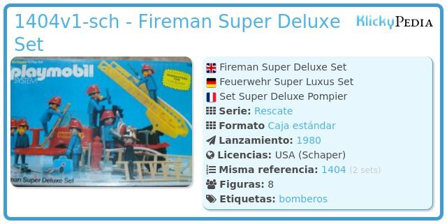 Playmobil 1404v1-sch - Fireman Super Deluxe Set