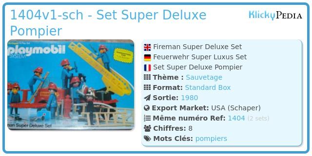 Playmobil 1404v1-sch - Set Super Deluxe Pompier