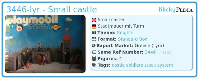 Playmobil 3446-lyr - Small castle