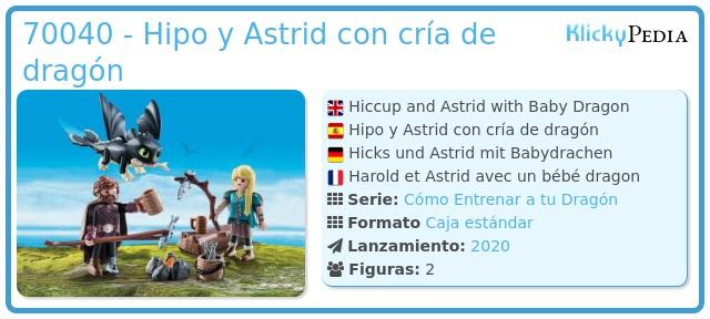 Playmobil 70040 - Hipo y Astrid con cría de dragón