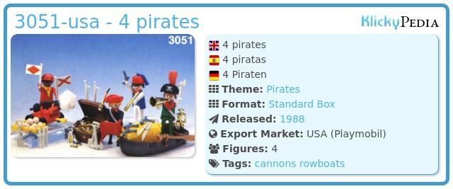 Playmobil 3051-usa - 4 pirates