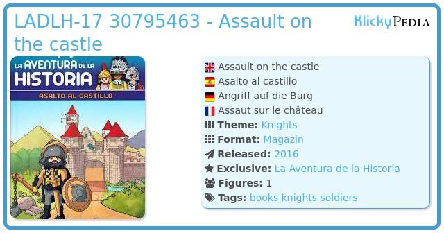 Playmobil LADLH-017 30795463 - Assault on the castle