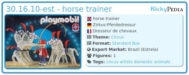 Playmobil 30.16.10-est - horse trainer