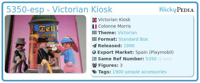 Playmobil 5350-esp - Victorian Kiosk