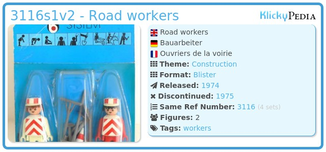 Playmobil 3116s1v2 - Road workers