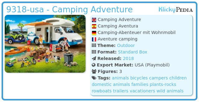 Playmobil 9318-usa - Camping Adventure