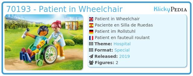 Playmobil 70193 - Patient im Rollstuhl