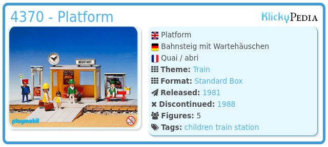 Playmobil 4370 - Platform