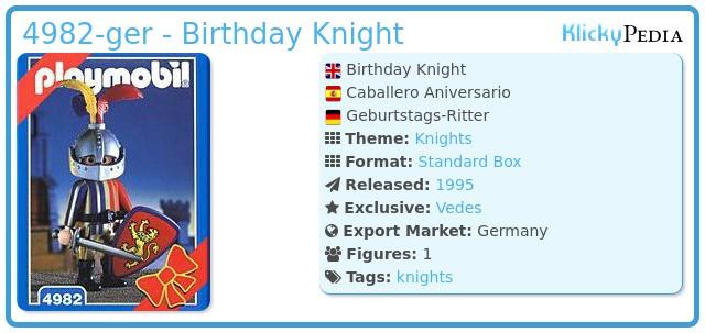 Playmobil 4982-ger - Birthday Knight