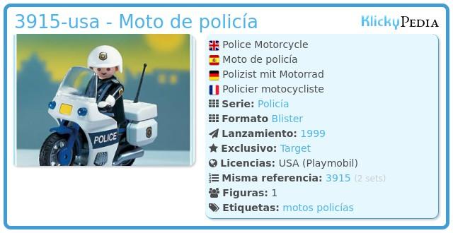 Playmobil 3915-usa - Moto de policía