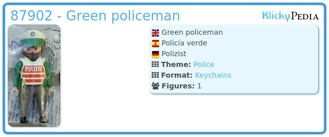 Playmobil 87902 - Green policeman