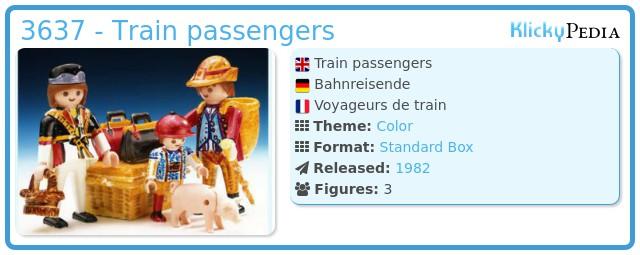 Playmobil 3637 - Train passengers
