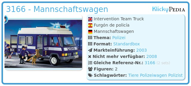 Playmobil 3166 - Mannschaftswagen