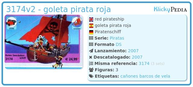 Playmobil 3174v2 - goleta pirata roja