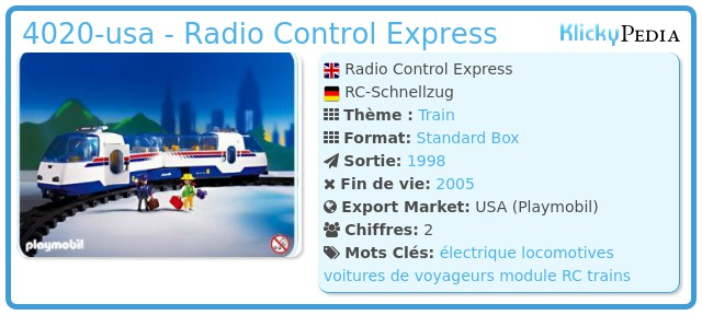 Playmobil 4020-usa - Radio Control Express