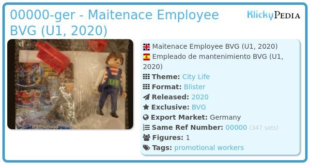 Playmobil 00000-ger - Maitenace Employee BVG (U1, 2020)