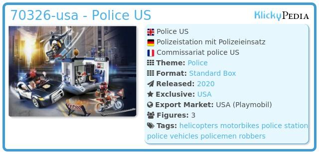 Playmobil 70326-usa - Police US