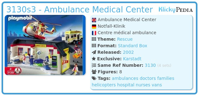 Playmobil 3130s3 - Ambulance Medical Center