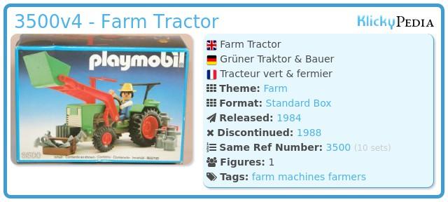 Playmobil 3500v4 - Green Tractor & Farmer